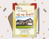 Our New Home Moving Announcement Card or Magnets - Vintage Chevron