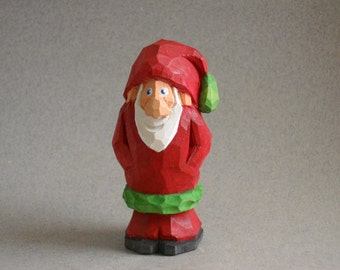 Small wood carved Santa