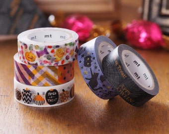 MT ex 2016 Halloween Japanese Washi Masking Tapes at your choice and sampler