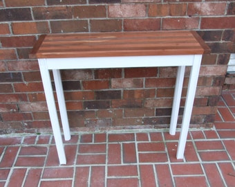 Farmhouse Entry Table Sofa Table Butcher Block Table Wooden Table 35 Inch.