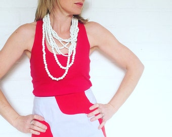 Marimekko Skirt, Red Marimekko Fabric, Aline Skirt