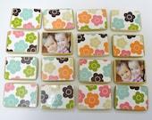 Wooden Flower Toy- Custom Matching Game / Personalized Girl's Gift-Birthdays / Stocking Stuffer