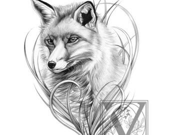 Fox Print - Fox Art - Foxy Fox - Limited Edition Giclée Archival Print