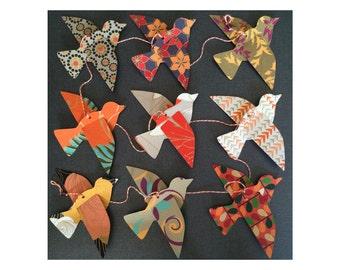 Paper Bird Garland - ORANGE - Wedding Garland - Party Garland - Bird Garland - Wedding Decor - Home Decor - Party Decor - Nursery Decor
