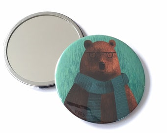 Studious Bear - Pocket Mirror