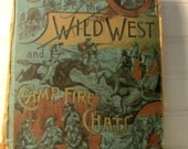 Buffalo Bill Cody, Antique Book, Story of Wild West, Crockett Carson Boone, 1888  Book, History of Old West