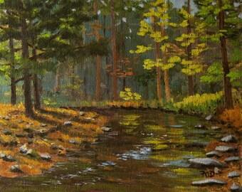Landscape painting, original oil, 8x10,