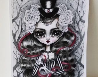 Veronica 8x10 Art Print-LIMITED EDITION 3/25