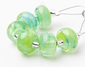 Key Lime Pie Spacer Swirl  - Handmade Lampwork Glass Beads by Sarah Downton