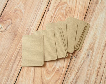 50pc RIBBED KRAFT Brown Eco Series Business Card Blanks
