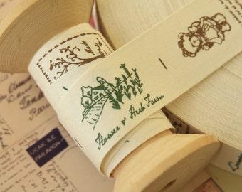 Flower & Herb Garden sewing tape fabric ribbon