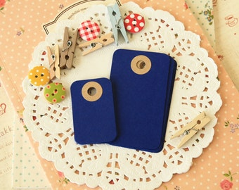 Cobalt Blue reinforced Rounded Midi Tags
