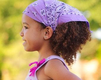 Cotton Kerchief, Lavender Purple Bandana, Housewife Head Wrap, Ladies Headcovering, Pale Purple Fashion Kerchief (#3008) S M L
