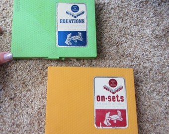 ReDuCeD! TWO WFF'N PROOF Games Original Boxes incl. All Pieces + Instructions Equations & On-Sets