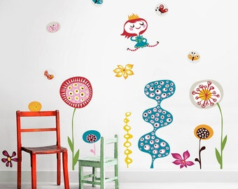 In My Garden Wall Decals (not vinyl) - Large, by Helen Dardik