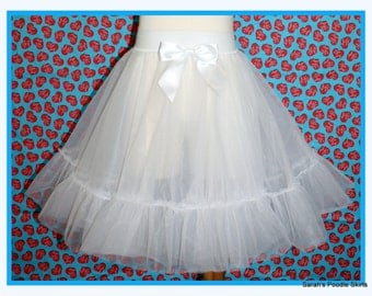 New! Gorgeous 50's Style Petticoat Slip Handmade to perfection in Your choice of Size 0-12mos up to Adult 5x!