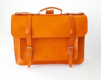 Backpack cowhide leather satchel (Ready to Ship)