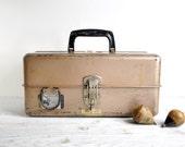 Metal Toolbox, Vinage Tool Carrier, Metal Storage Box, Industrial Decor, Industrial Storage