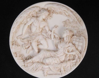 Eros And Psyche Greek Love Stories Marble Plate Daphne & Apollo 1989 Numbered