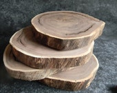 Walnut wood slices Wedding decor table setting Rustic tree Slice centerpiece home & living decor