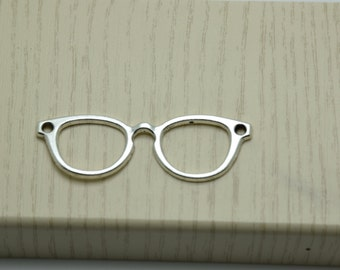 10pcs antique silver glasses findings 55mmx19mm
