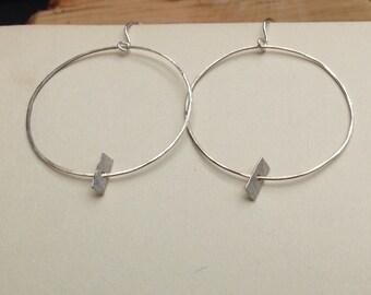 Lightweight Silver Hoops