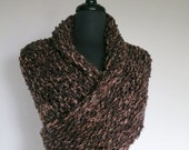 Outlander Inspired Dark Brown Color Knitted Chunky Yarn Claire's Cape Sassenach Shawl Wrap Stole with Tassels