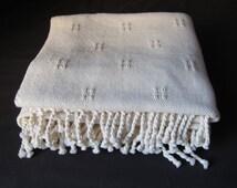 Vintage organic cotton blanket.-