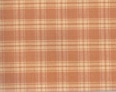 """Cinnamon & Cream Plaid Fabric ~ 9"""" x 38"""" Scrap Remnant ~ Material 4 Scrap Quilt Piecing - Fun Sewing Projects  Inventory # PL 9"""