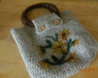 Felted wool handbag