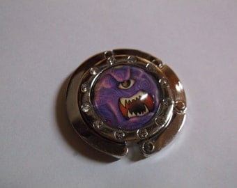 Purple People Eater Cabochon Purse Hanger