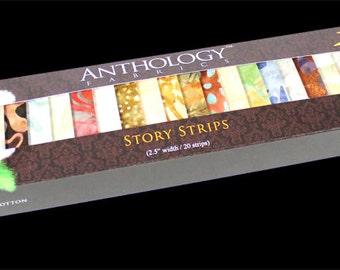 Batik Fabric Story Strips 128