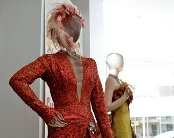 Custom Couture Marilyn Monroe's Red Sequin Gown from Little Rock