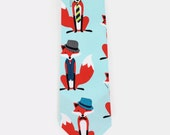 Retro Inspired Red Dapper Fox Necktie | Mens Tie