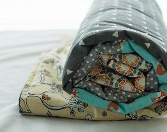 Custom Designed Modern Quilt, Personalized