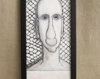 Surreal Male Portrait , Male Portrait, Portraits, Portrait Painting, Wil Shepherd, Portrait, Fine Art, Painting,Wil Shepherd Studio,Original