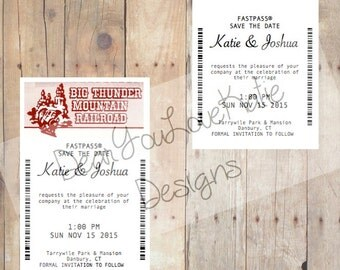 Disney FastPass Save the Date Wedding