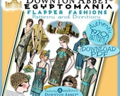 20's Flapper PATTERNS Downton Abbey EGYPTIAN Andover's Fabric Pdf Edition Authentic 1920's Pattern Booklet Download Egyptomania