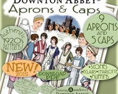 1920's APRON Downton Abbey Patterns Pdf Booklet for Andover's DA Fabric Line Pdf version Authentic 1920's Pattern Booklet DOWNLOAD