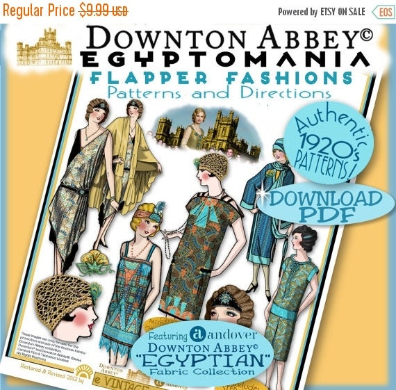 1920s Patterns – Vintage, Reproduction Sewing Patterns 20s Flapper PATTERNS Downton Abbey EGYPTIAN Andovers Fabric Pdf Edition Authentic 1920s Pattern Booklet Download Egyptomania $8.49 AT vintagedancer.com