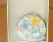 Vintage Decorative Hat Box Butterflies Ribbon Tiny Feathers Hand Made Dollhouse
