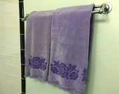 Lavender Bath Towel Pair - 100% cotton
