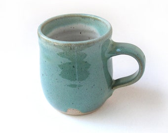 Speckled Green and White Coffee Mug