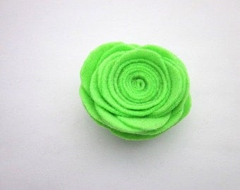 Large Lime Pin -- Lime Green Flower -- Felt Flower Pin Accessory -- Large Felt Pin -- Lime Brooch -- Lime Flower Pin -- Lime Brooch Pin