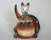 vintage ceramic kangaroo dresser accessory