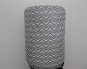 Energy saver Water Bottle Cover- 5 Gallon Cover White and Gray