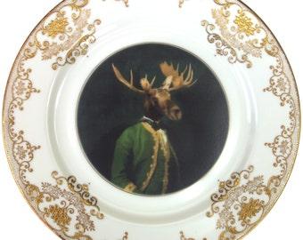 "Baron de Capreolinae - Altered Vintage Plate 10"""