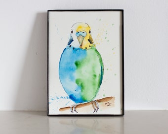 Kesha - Parrot - Adopt-a-Pet series - Original - Watercolor Painting