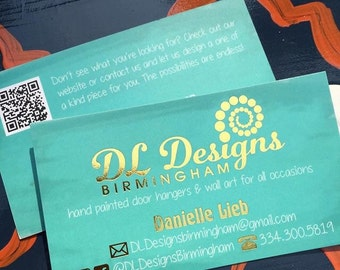 Gold Foil Business Cards, Fully Customizable