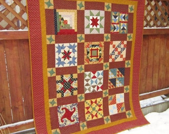 Twin Size Sampler Quilt